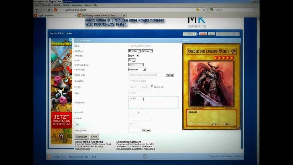 Yugioh Karten Selber Machen  Youtube von Yugioh Karten Selbst Erstellen Bild