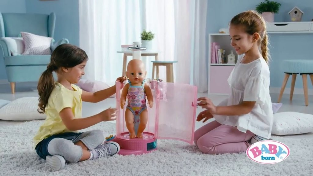 Zapf Creation  Baby Born  Rain Fun Shower And Bathroom  Youtube von Baby Born Interactive Waschtisch Photo