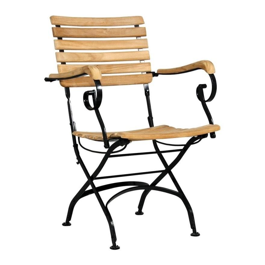 Zebra Florence Biergartensessel Stahlteak  Gartenundfreizeit von Gartenstühle Metall Holz Klappbar Bild