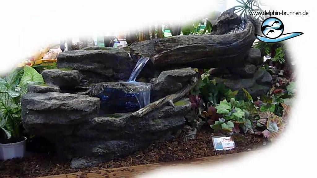 Zimmerbrunnen Myung Bei Delphinbrunnen  Youtube von Zimmerbrunnen Wasserfall Selber Bauen Bild