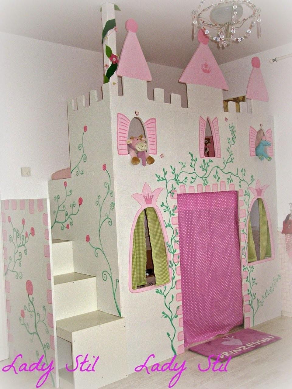 Zimmereinblick Der Kleinen  Girl's Bedroom Ideas  Prinzessinnen von Prinzessin Hochbett Selber Bauen Photo