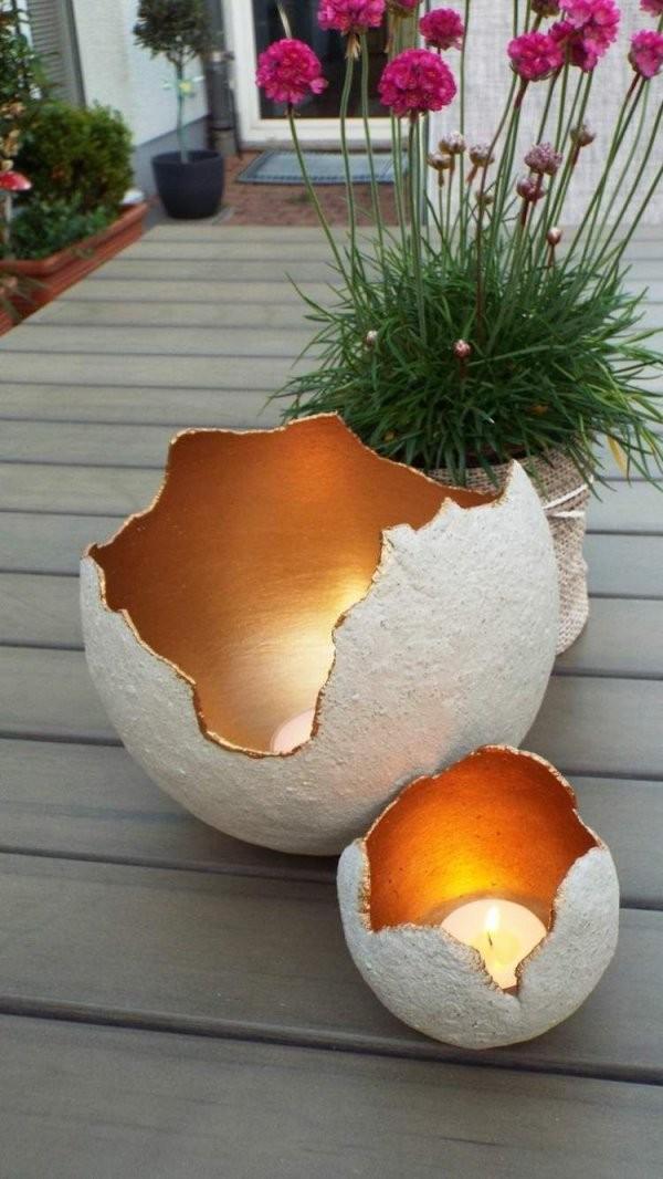 Zur Beleuchtung Im Garten Windlichter Aus Beton Selber Machen  Fall von Bild Mit Beleuchtung Selber Machen Photo