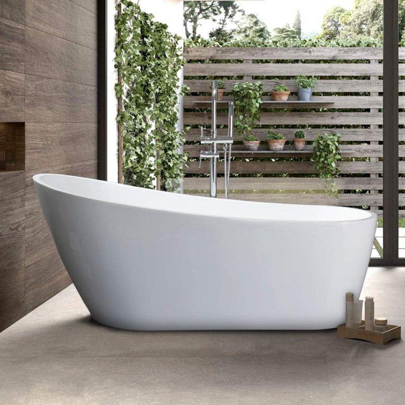 Freistehende Badewanne Mit Hoher Rückenlehne Designa von Freistehende Badewanne Im Schlafzimmer Photo