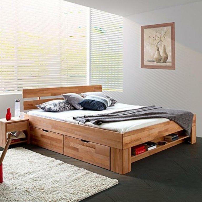 Bett Bettkasten Mit 140X200 Otto Und Matratze Holz 140 von Malm Bett 140X200 Weiß Bild