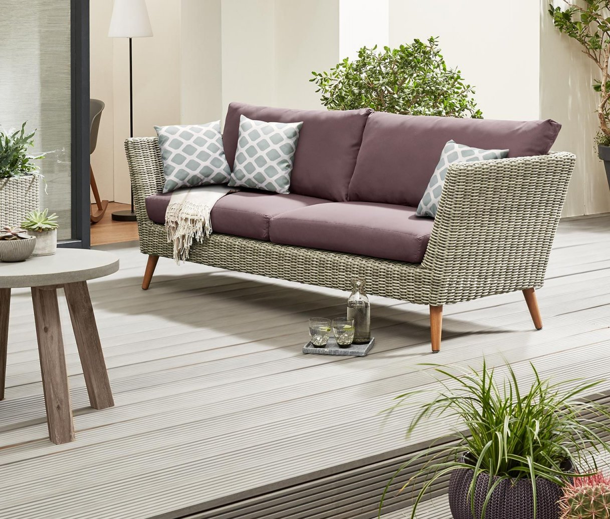 3 Sitzer Outdoor Sofa von Polyrattan Sofa 3 Sitzer Photo
