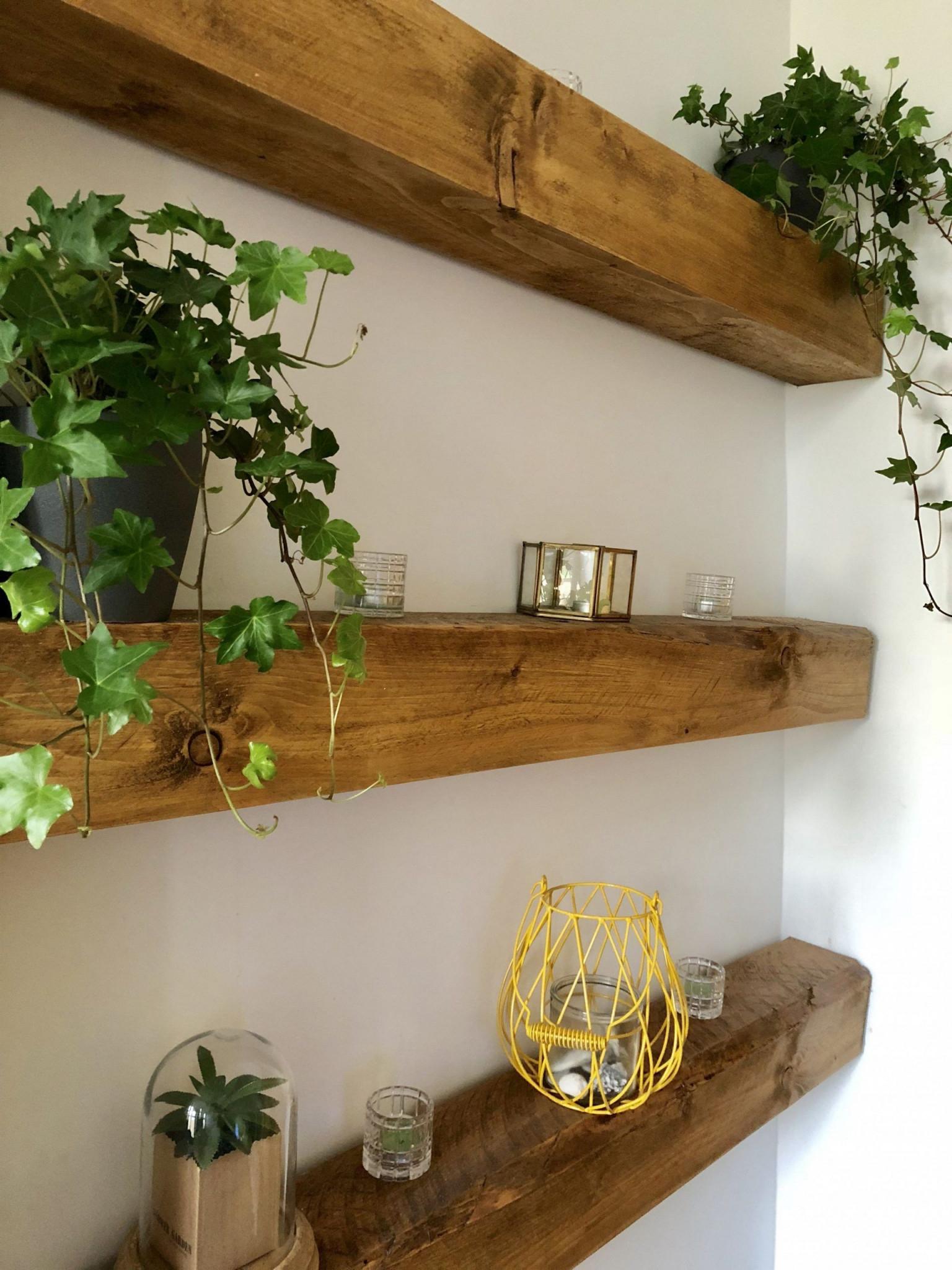 10 Balken Wohnzimmer Deko In 2020  Wandregal Holz von Wohnzimmer Holz Deko Bild