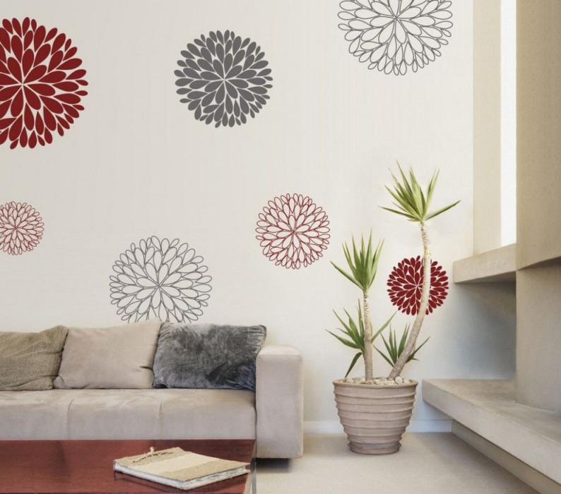 13 Wandtattoos Wohnzimmer Ideen In 2020  Wandtattoo Blumen von Wandtattoos Wohnzimmer Ideen Bild