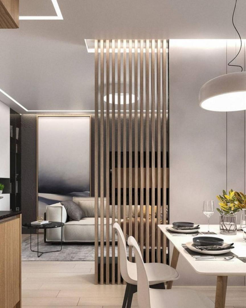 14 Wonderful Living Room Design With Divider For Small Space von Moderne Trennwände Wohnzimmer Bild