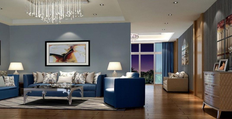 20 Besten Blauen Sofa Wohnzimmer Design Ideen Samt von Blaue Deko Wohnzimmer Photo