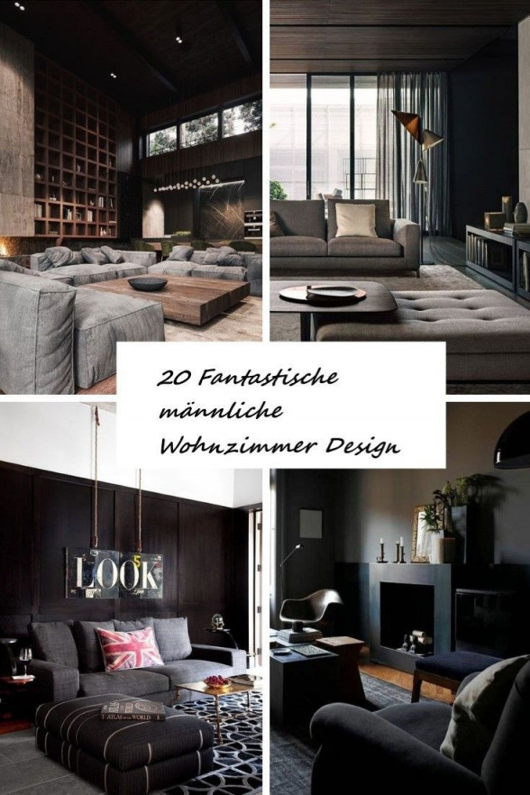 20 Fantastische Männliche Wohnzimmer Design Ideen von Männer Wohnzimmer Ideen Bild