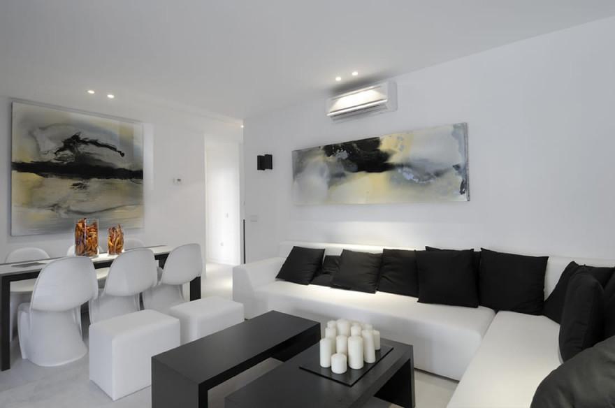 21 Fantastische Gestaltungsideen Für Schwarzweiße von Wohnzimmer Schwarz Weiß Einrichten Bild
