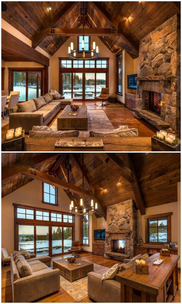 25 Ideas For A Rustic Living Room To Decorate Your Revamp von Wohnzimmer Ideen Rustikal Photo