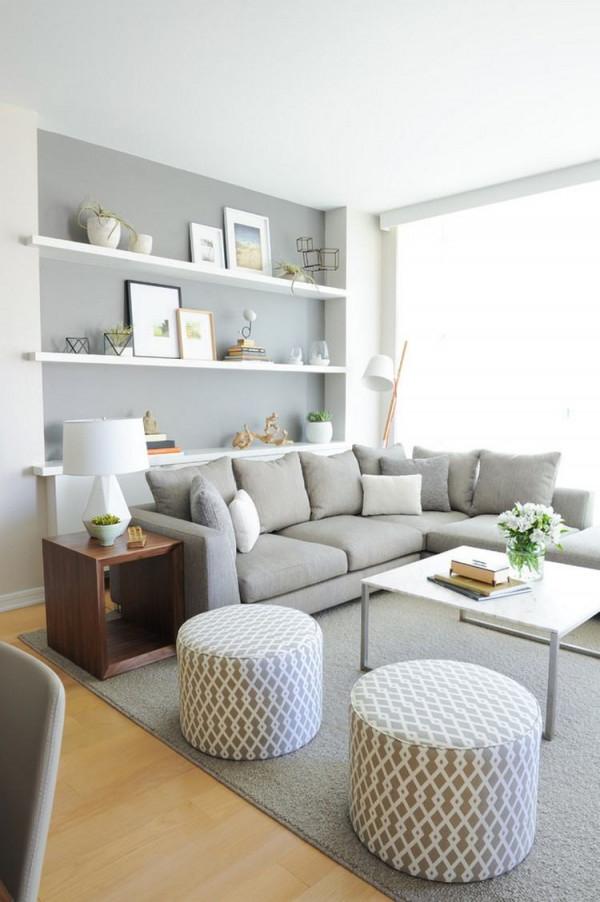 29 Ideen Fürs Wohnzimmer Streichen – Tipps Und Beispiele von Wohnzimmer Ideen Weiss Grau Bild