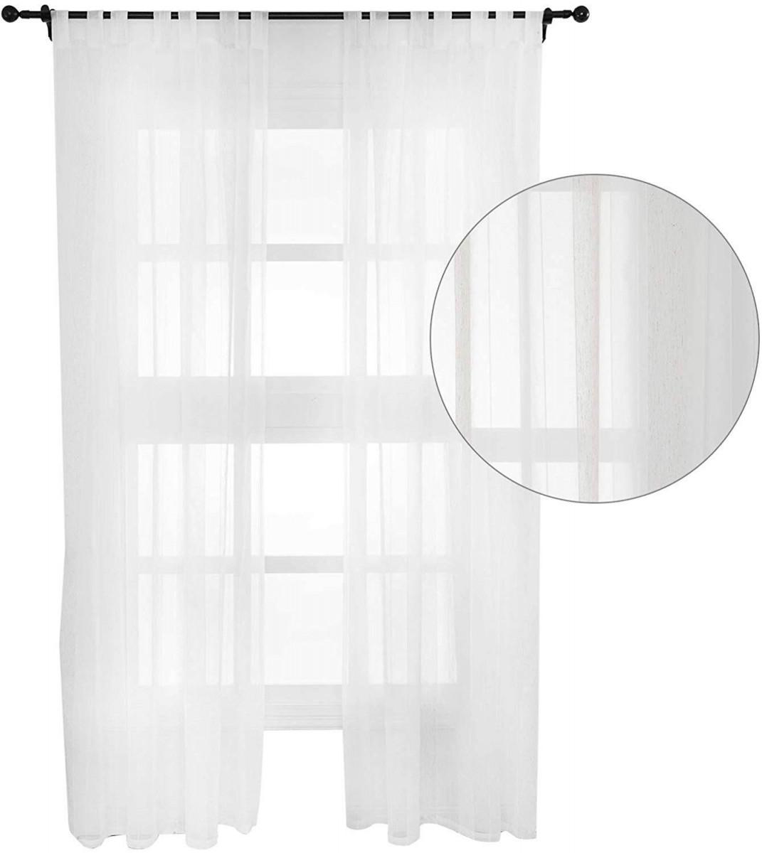 2Erset Gardinen Transparent Mit Schlaufen Für Wohnzimmer von Gardinen Wohnzimmer Mit Schlaufen Photo
