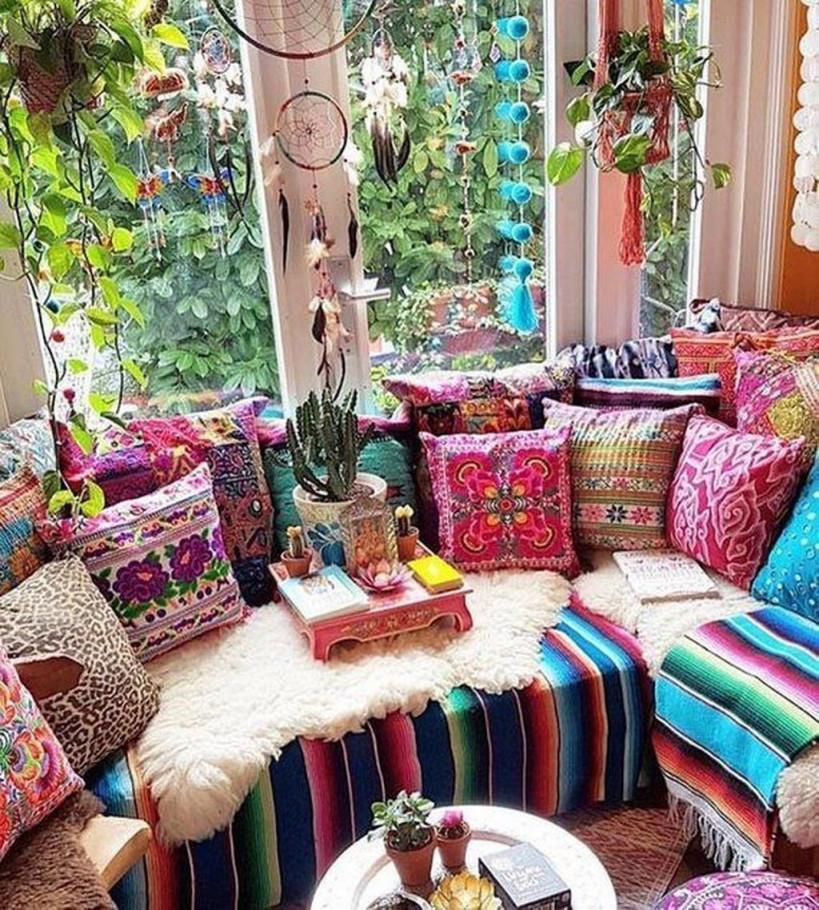 34 Charmante Boho Wohnzimmer Dekoideen Mit Zigeunerstil von Ideen Wohnzimmer Deko Photo