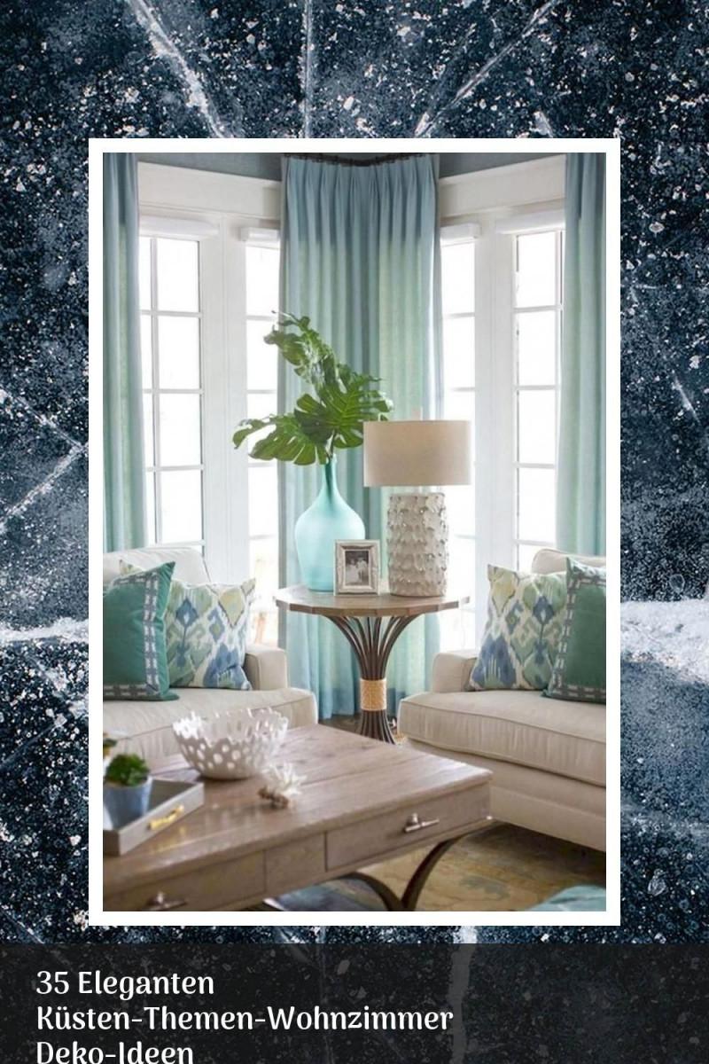 35 Eleganten Küstenthemenwohnzimmer Dekoideen In 2020 von Wohnzimmer Deko Türkis Bild