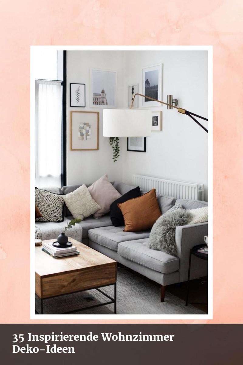 35 Inspirierende Wohnzimmer Dekoideen  Babyzimmer Design von Große Deko Wohnzimmer Bild
