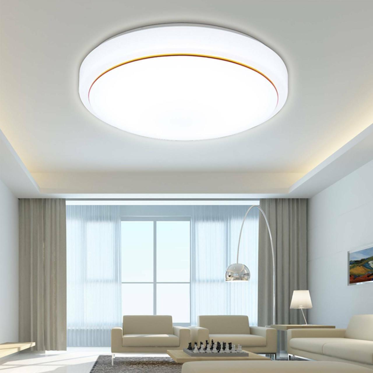 36W Led Deckenlampe Deckenleuchte Wohnzimmer Küchen Lampe Küche 40Cm Runde  Licht von Wohnzimmer Lampe Led Bild
