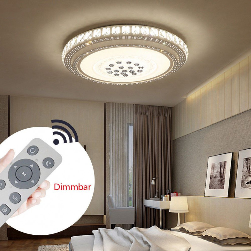 36W Led Kristall Deckenleuchte Deckenlampe Wohnzimmer von Wohnzimmer Deckenlampe Dimmbar Photo