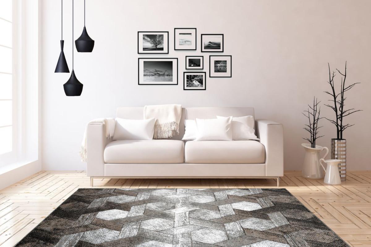 3D Teppich Modern Design Teppiche Wohnzimmer Schwarz Taupe Beige Grau Weiß  Wohnzimmerteppich Esszimmerteppich Teppichläufer Flurläufer Verschied von 3D Teppich Wohnzimmer Photo