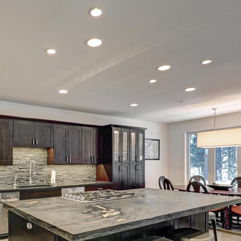 3Er Set Led Küchen Einbau Strahler Rund Spot Lampen Wohnzimmer Lampe  Paulmann 93818 von Wohnzimmer Lampe Rund Bild