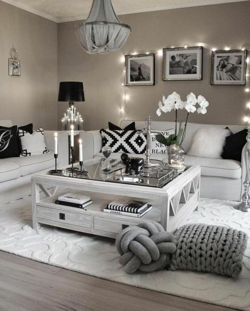 44 Schöne Schwarz Und Weiß Wohnzimmer Ideen  9  Das von Wohnzimmer Ideen Weiß Bild