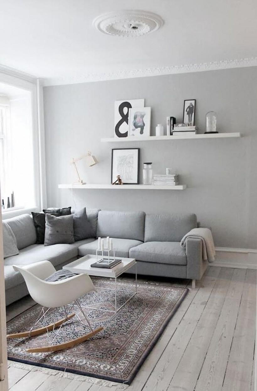 46 Moderne Kleines Wohnzimmer Dekoideen In 2020  Wandfarbe von Wohnzimmer Deko Ideen Photo