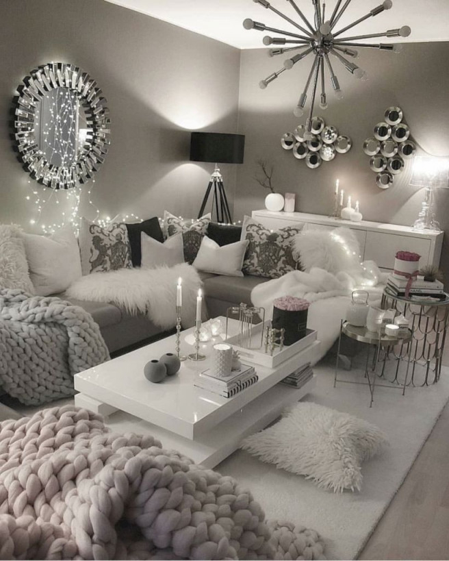 48 Favorite Winter Décor Ideas For Living Room  Cool 48 von Winter Deko Wohnzimmer Photo