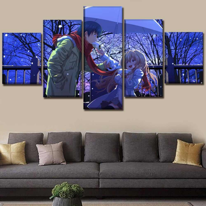 5 Stücke Anime Toradora Poster Wand Kunst Modulare Bild Hause Dekorative  Wohnzimmer Rahmen Auf Leinwand Druck Typ Kunstwerk von Dekorative Bilder Wohnzimmer Bild