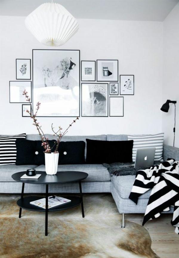 50 Fotowand Ideen Die Ganz Leicht Nachzumachen Sind von Bilderwand Ideen Wohnzimmer Photo