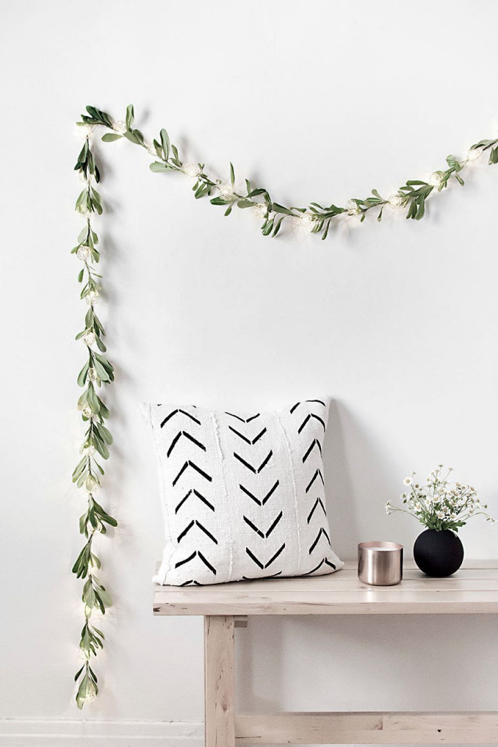 53 Minimalistische Diy Deko Ideen Für Moderne Wohnzimmer von Deko Girlande Wohnzimmer Bild