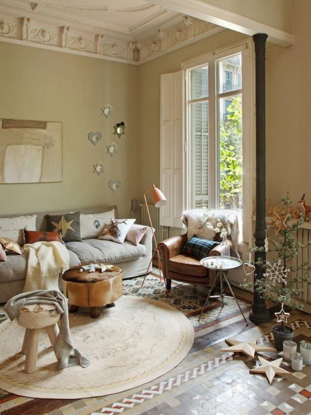 60 Einrichtungsideen Wohnzimmer Rustikal  Freshouse von Rustikales Wohnzimmer Ideen Photo