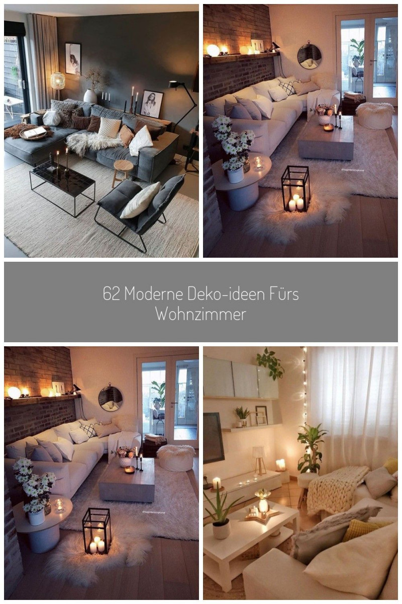 62 Moderne Dekoideen Fürs Wohnzimmer Ideen Moderne von Moderne Deko Wohnzimmer Photo