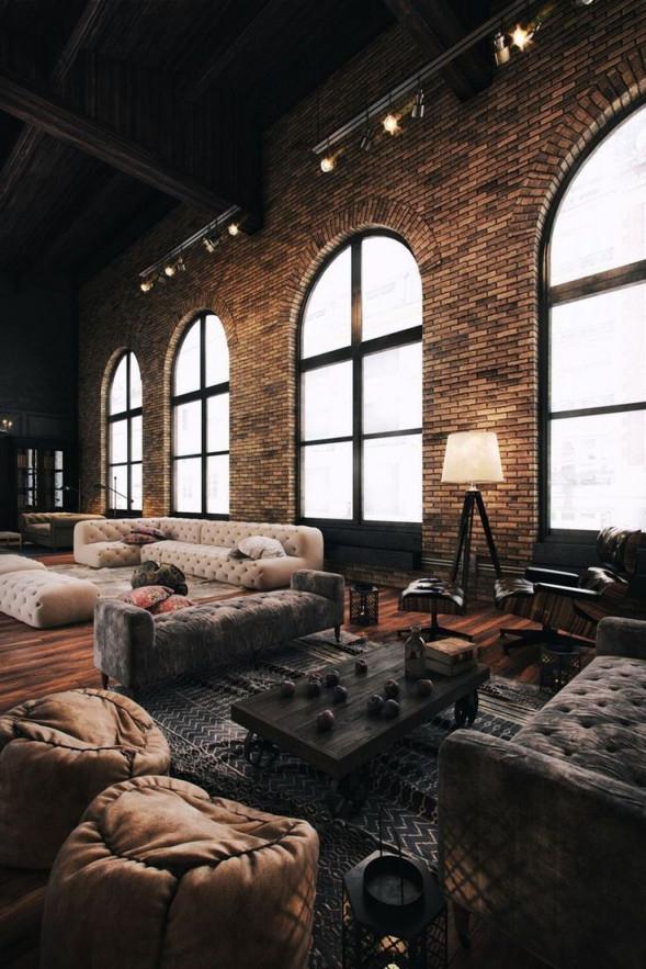 64 Coole Rustikale Freigelegte Ziegelwandideen Für Ihre von Rustikales Wohnzimmer Ideen Bild