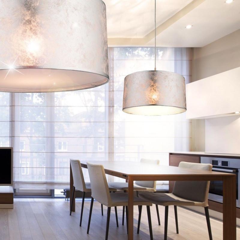 7 Watt Led Luxus Hänge Leuchte Wohn Ess Zimmer Beleuchtung von Wohnzimmer Lampe Silber Photo