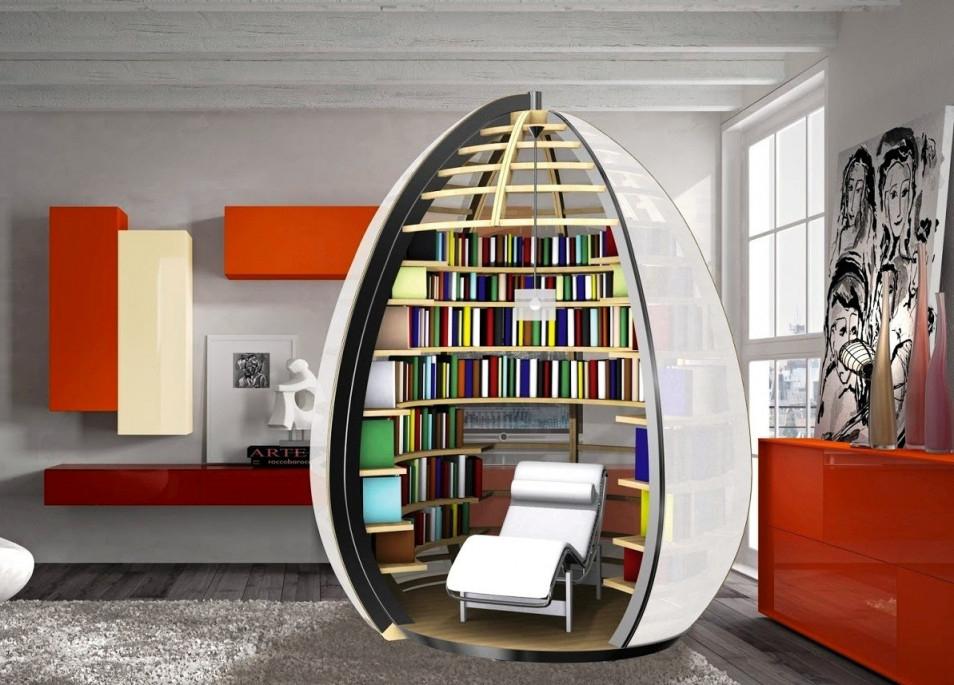 80 Ideen Für Einzigartig Kreative Bücherregale Und von Bücherregal Wohnzimmer Ideen Photo
