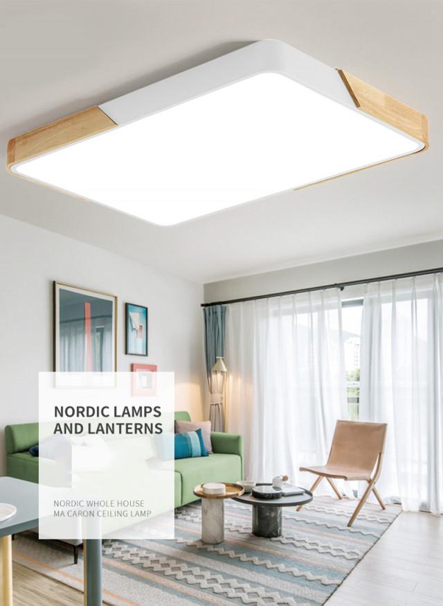 80W Led Rechteckige Deckenleuchte Dimmbar Mit Fernbedienung Led Flurlampe  Küchelampe Wohnzimmer Schl von Led Wohnzimmer Deckenleuchte Bild