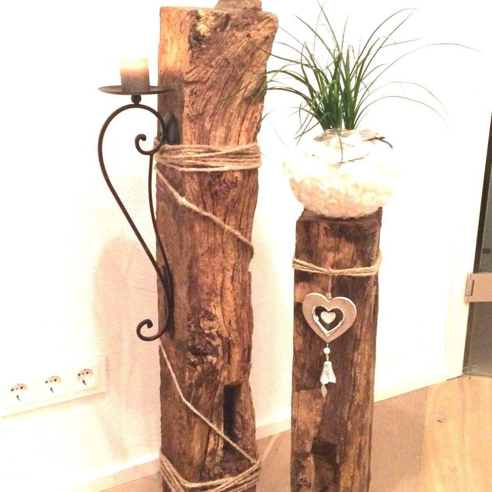 83 Genial Baumstumpf Deko Ideen  Garten Deko von Baumstamm Deko Wohnzimmer Photo