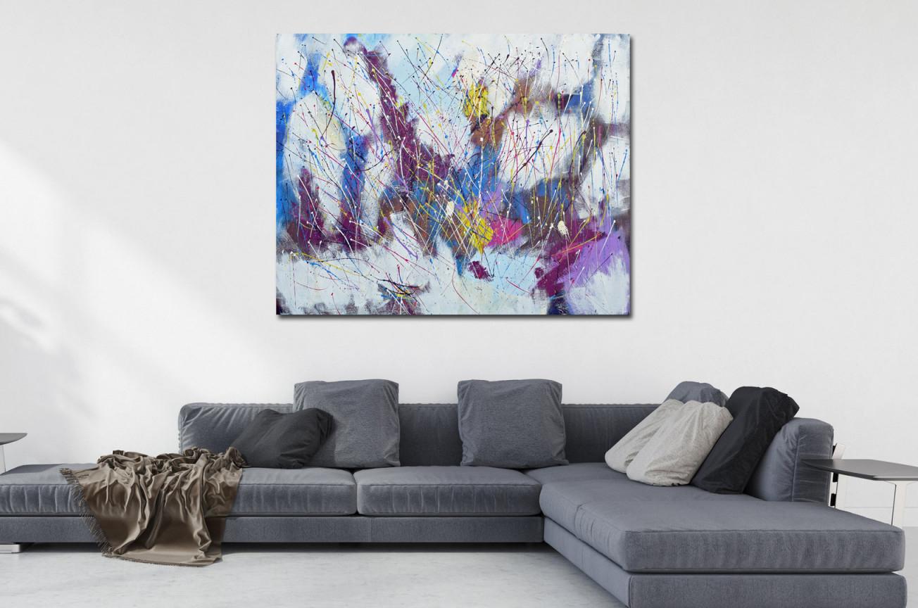 Abstrakt Nr 1341 von Bilder Großformat Wohnzimmer Bild