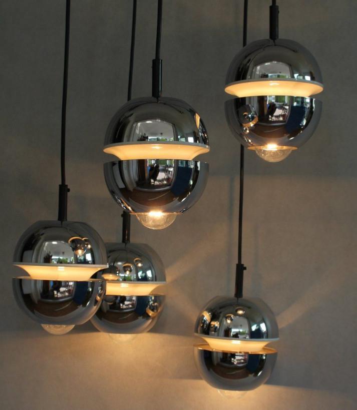 Alte Kaskade 70Er Jahre Lampe  Hängelampe Loungelampe von Retro Wohnzimmer Lampe Photo