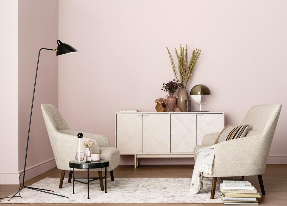 Altrosa Wandfarbe • Bilder  Ideen • Couch von Wandfarbe Wohnzimmer Ideen Bild