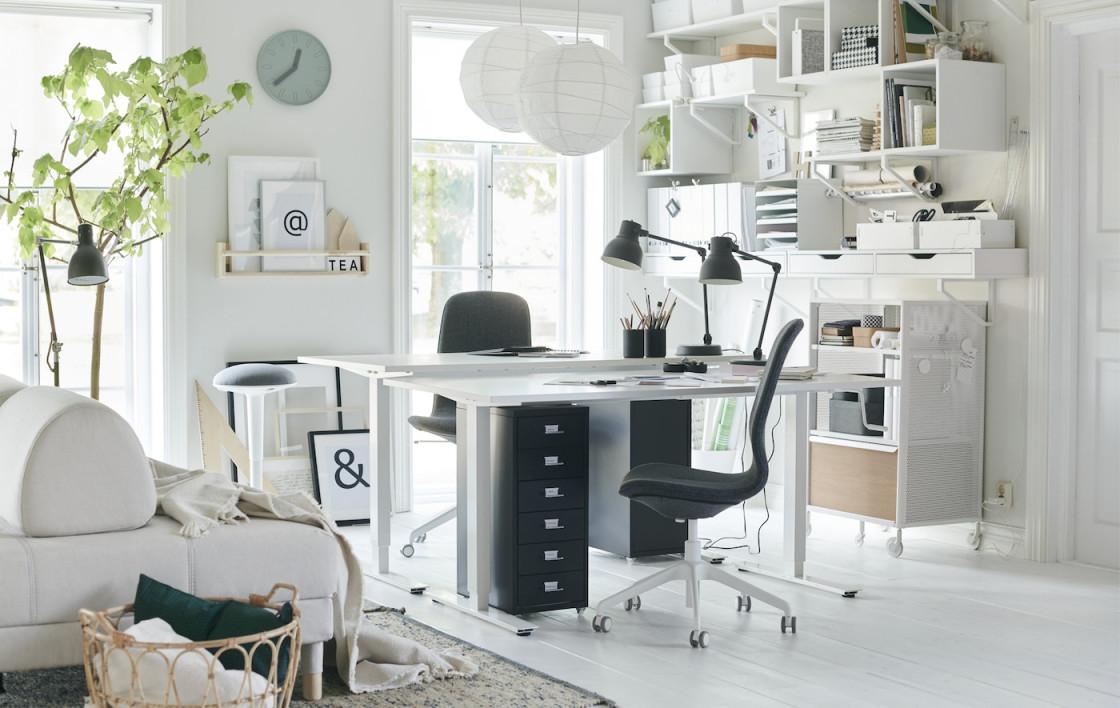 Arbeitsecke Im Wohnzimmer Einrichten  Ikea Deutschland von Arbeitsecke Im Wohnzimmer Einrichten Bild