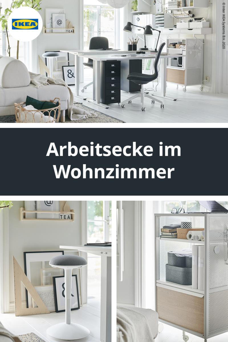 Arbeitsecke Im Wohnzimmer Einrichten In 2020  Wohnzimmer von Arbeitsecke Im Wohnzimmer Einrichten Bild