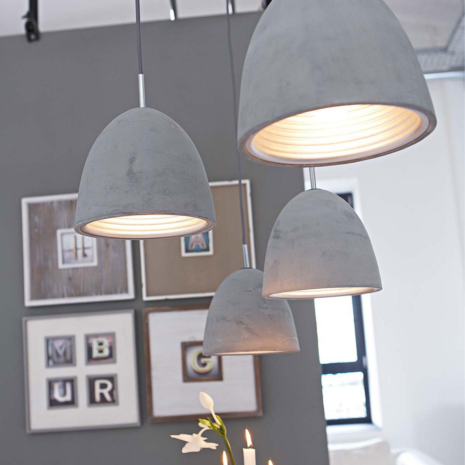 Arbeitszimmer Impressionen Deckenleuchte Aus Beton  Lampen von Wohnzimmer Lampe Industriedesign Bild