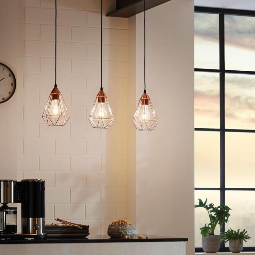 Archaic M Pendelleuchte Im Vintagelook Kupfer von Kupfer Lampe Wohnzimmer Bild