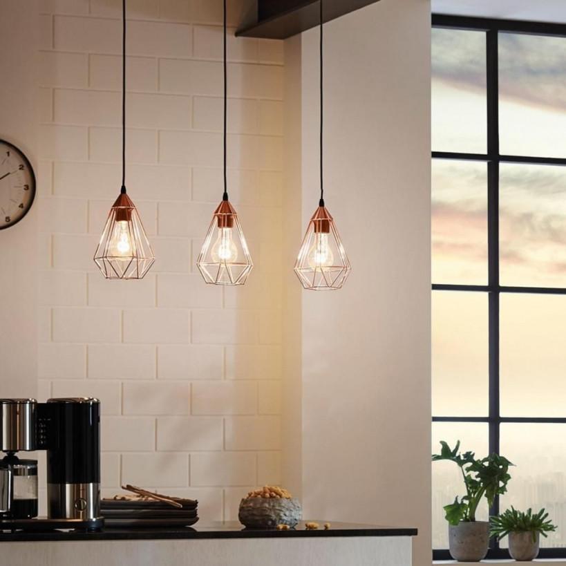 Archaic M Pendelleuchte Im Vintagelook Kupfer von Wohnzimmer Lampe Kupfer Bild