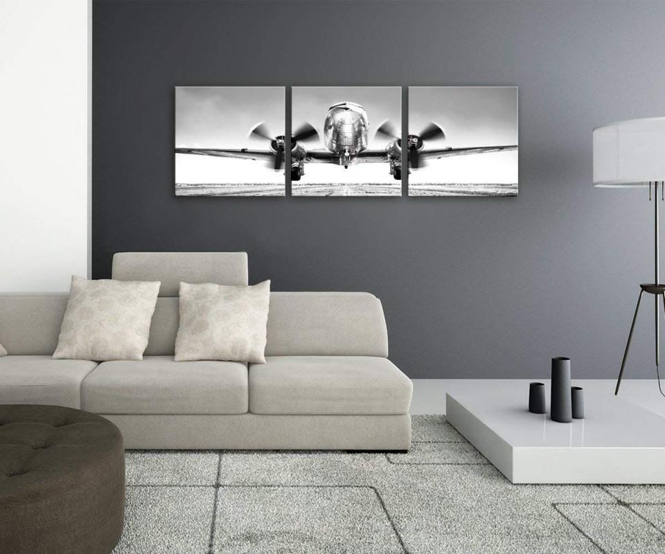 Artissimo Glasbild Mehrteilig Xxl 3Teilig Ca150X50Cm von Glasbilder Wohnzimmer Moderne Bild