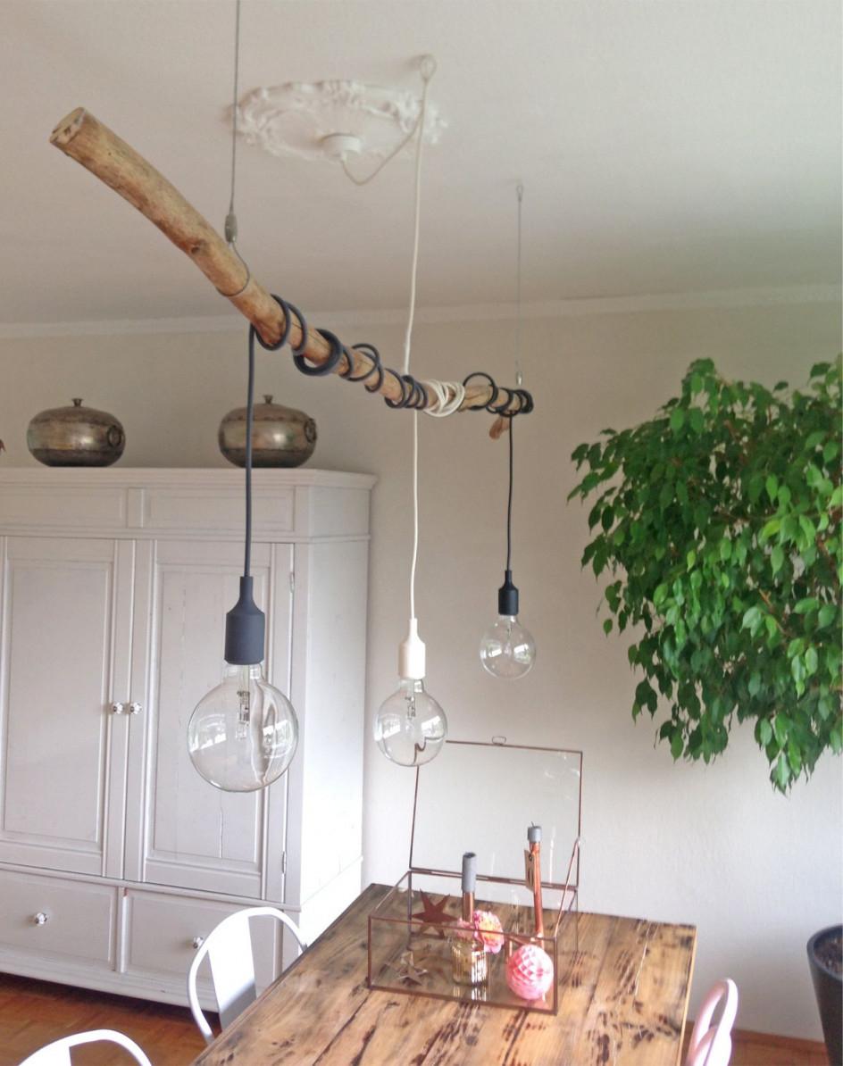Äste Archives  Roomilicious  Ideen Zum Selbermachen Für Zu von Wohnzimmer Lampe Hängend Holz Bild