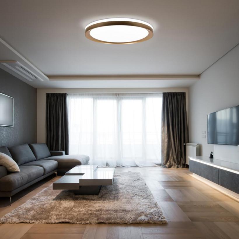 Avior Home 36W Led Deckenleuchte 'ufo' Tageslicht  Real von Deckenleuchte Wohnzimmer Gold Photo