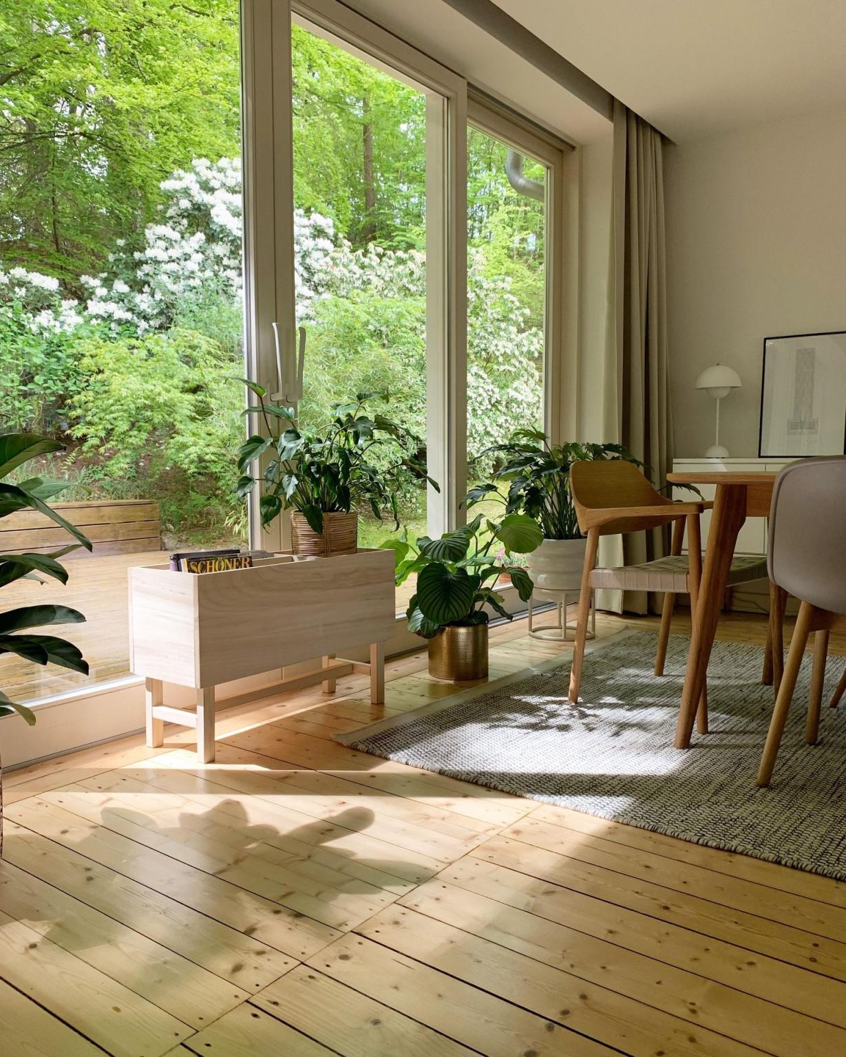 Bei Dekorationswut Ist Das Fenster Super Schön Dekoriert von Wohnzimmer Mit Fensterfront Einrichten Photo